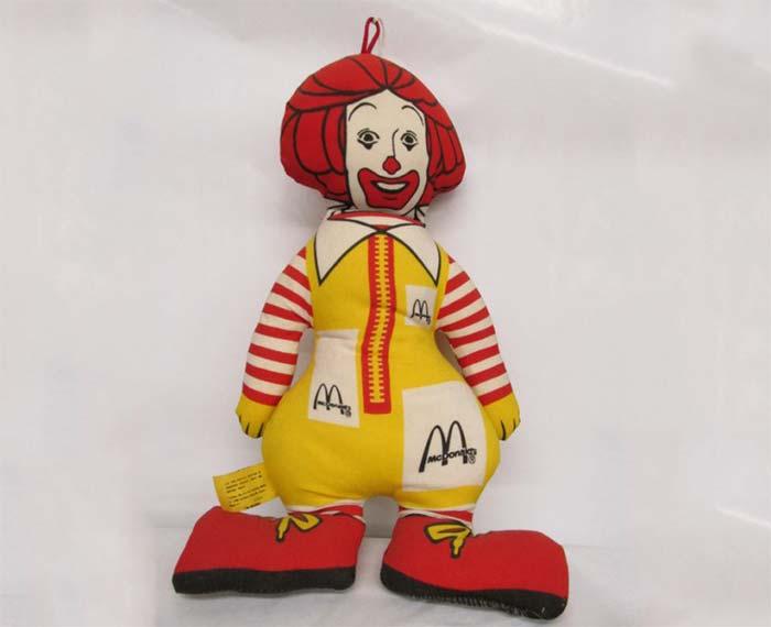Ronald McDonald Cloth Doll